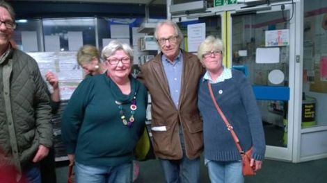 Ken Loach is in the (full) house!