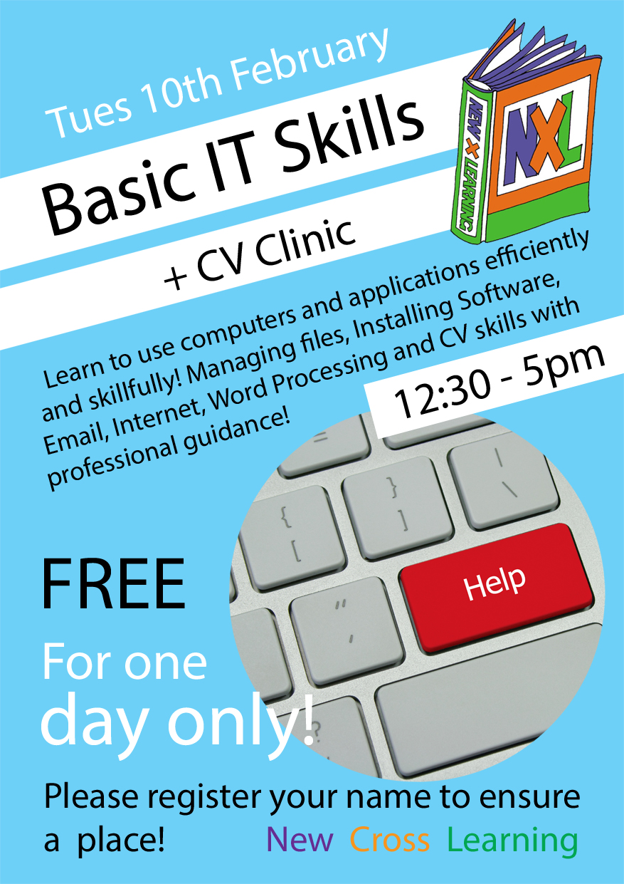 basic it skills and cv clinic tuesday 10 february 2015 12 30 5pm